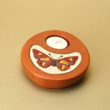 Asztali mécsestartó, pillangó