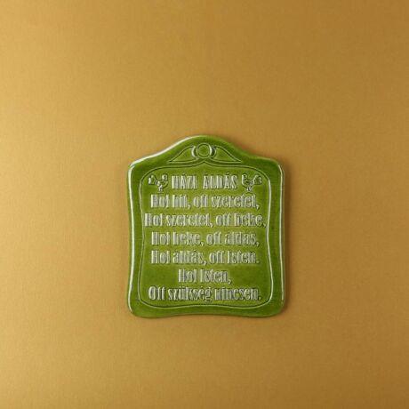 Házi áldás zöld