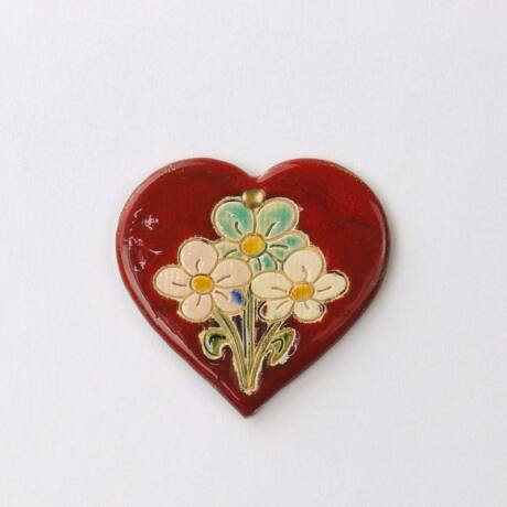 Virágos fali szívecske