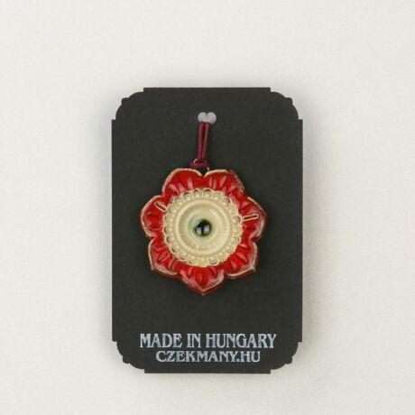 Virágos kerámia medál 2