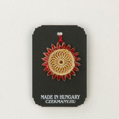 Virágos kerámia mandala medál 19