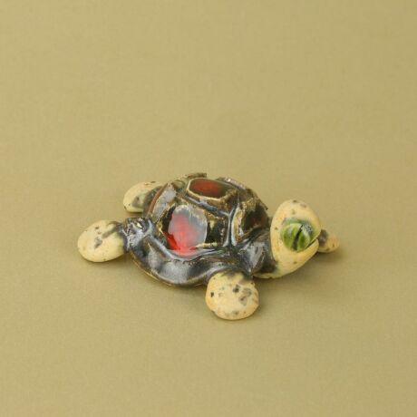 Pici kerámia teknős piros