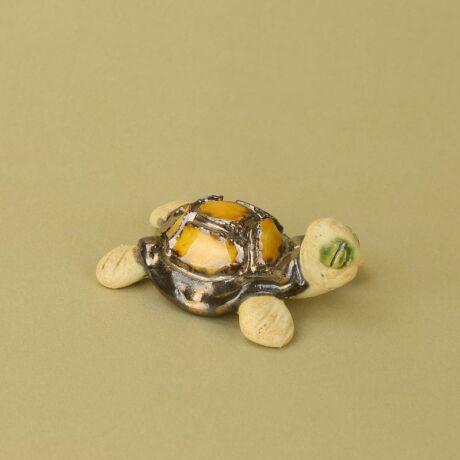 Pici kerámia teknős arany