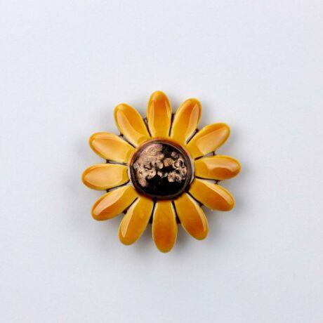 Kerámia margaréta - sárga, közepes méretű
