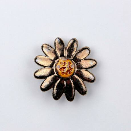 Kerámia margaréta - arany, közepes méretű