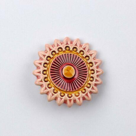 Kerámia csillagvirág - rózsaszín - bordó