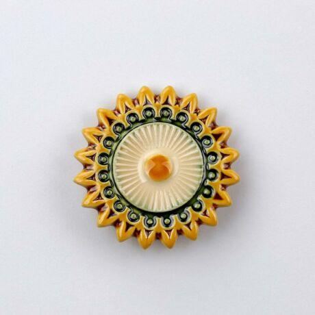 Kerámia csillagvirág - sárga - fehér