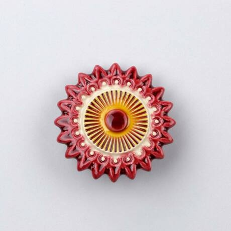 Kerámia csillagvirág - bordó