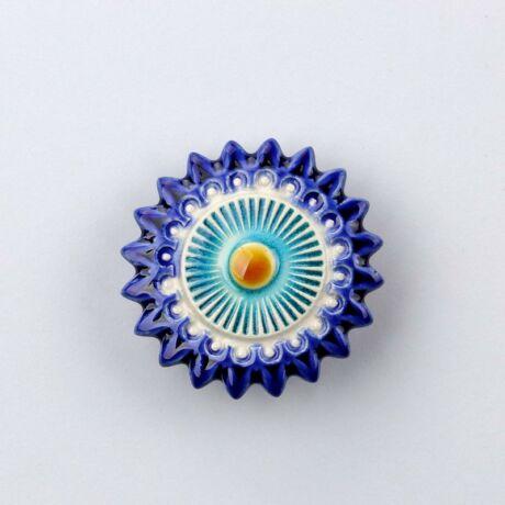 Kerámia csillagvirág - sötétkék - türkiz