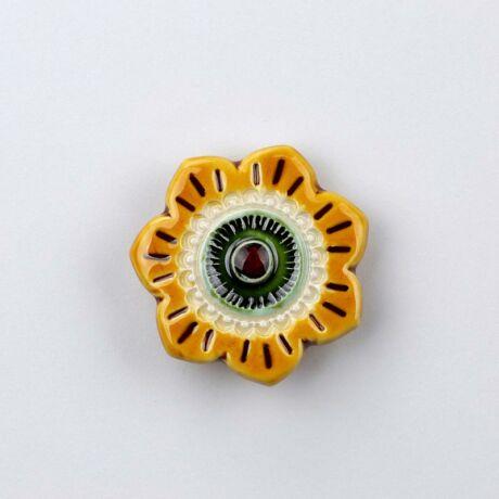 Kerámia szellőrózsa - sárga