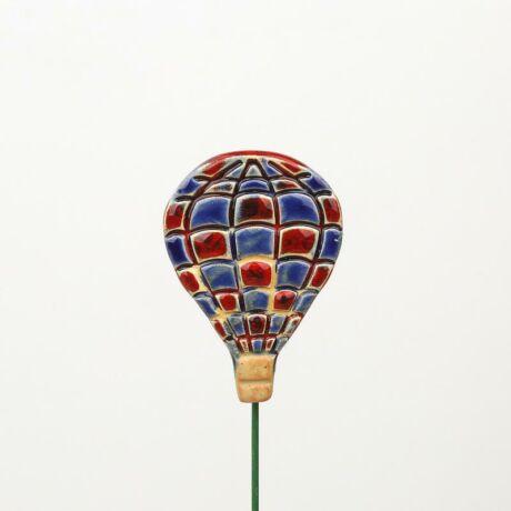 Beszúrható kerámia figura - hőlégballon