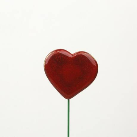 Beszúrható kerámia figura - nagy szív
