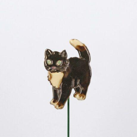 Beszúrható kerámia figura - fekete cica