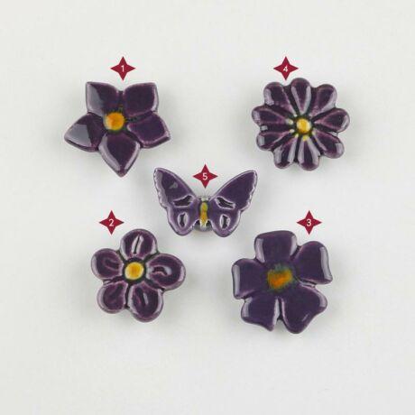 Lila mini kerámia virág
