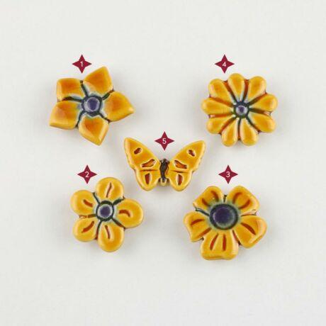 Sárga mini kerámia virág
