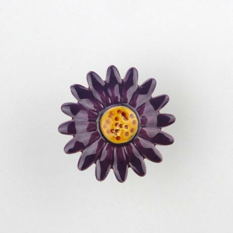 Nagy kerámia margaréta - sötét lila