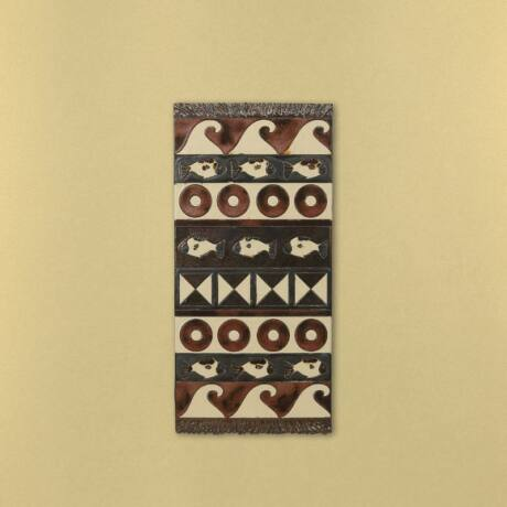 Kerámia fali szőnyeg - arany