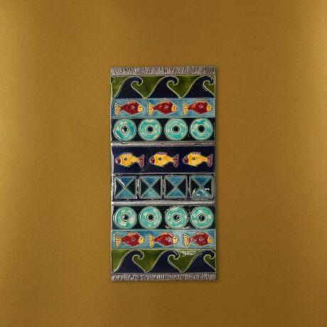 Kerámia fali szőnyeg - kék