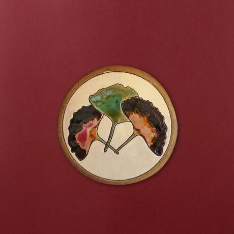 Gingko leveles kerek kép