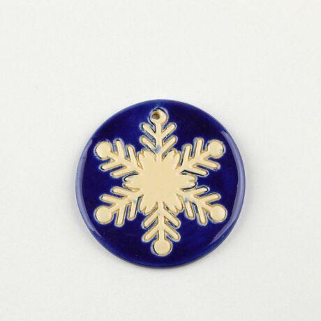 Karácsonyfadísz kék hópehely