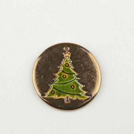 Karácsonyfadísz díszes fenyő arany