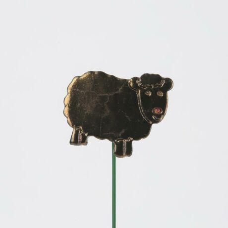 Beszúrható kerámia figura - fekete bárány