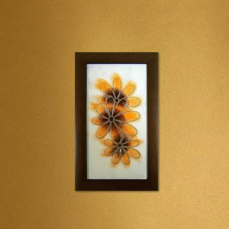 Margaréták üvegkép - sárga