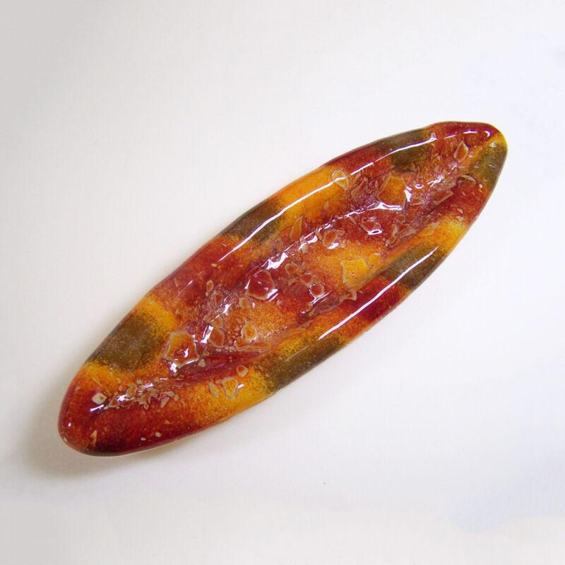 Bordó narancs hosszú kínáló tál