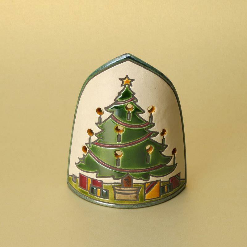 Íves karácsonyfás mécsestartó