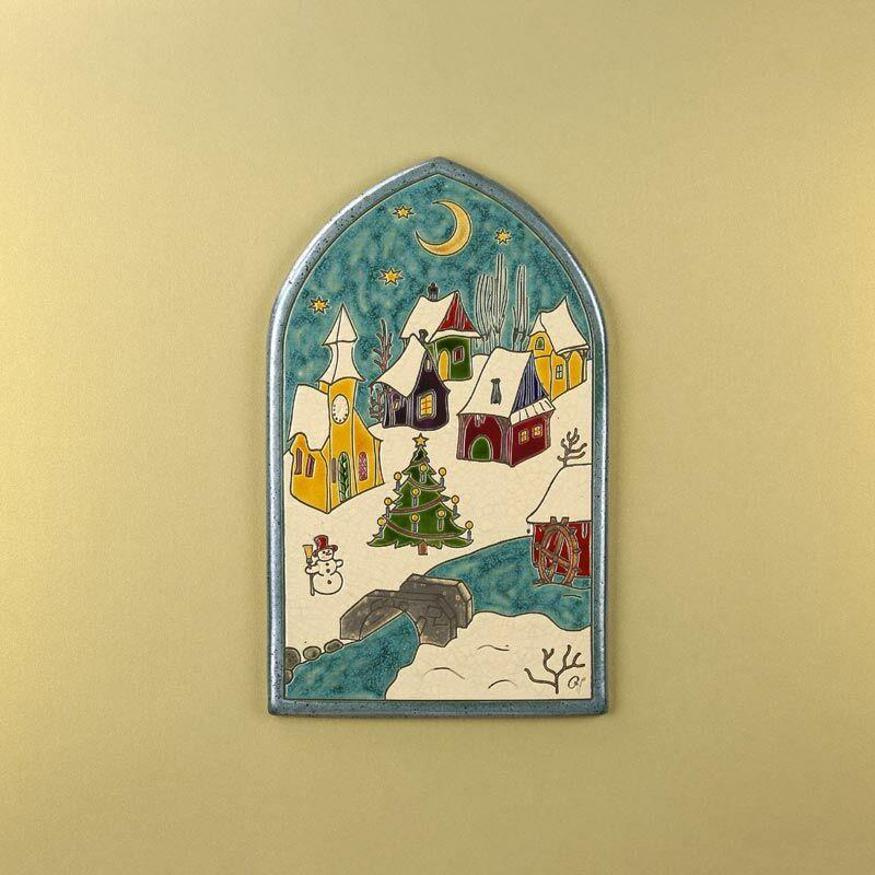 Karácsonyi falu csúcsíves kép