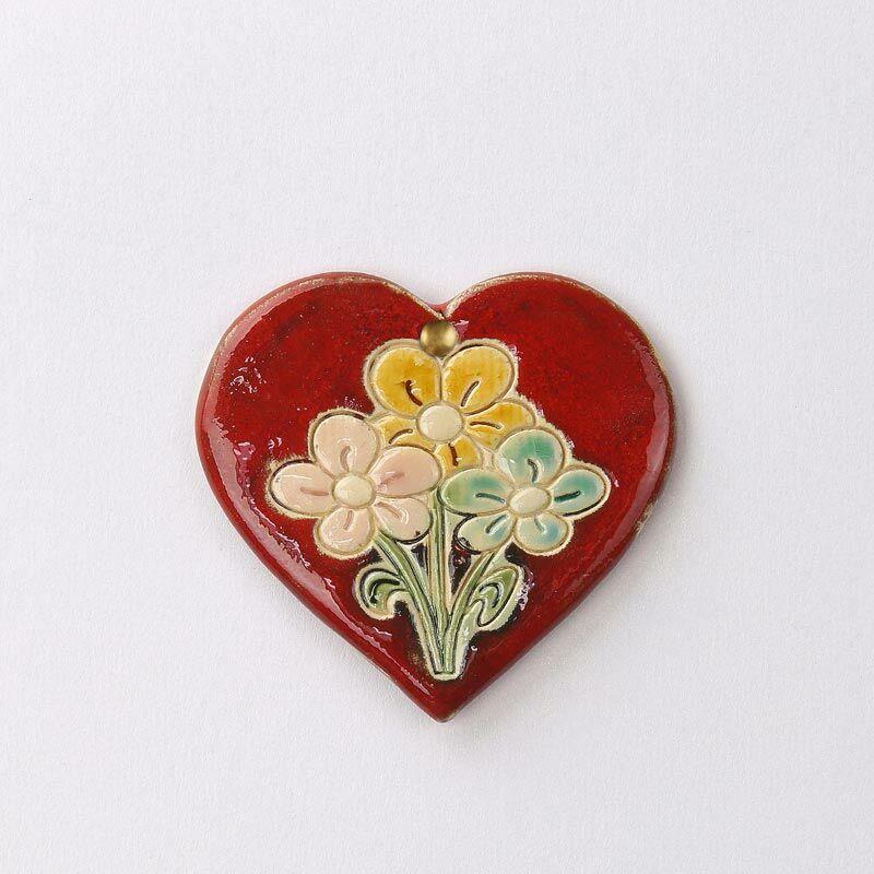 Virágos fali szívecske 2