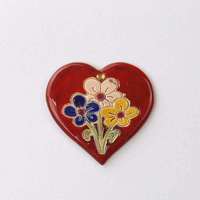 Virágos fali szívecske 3