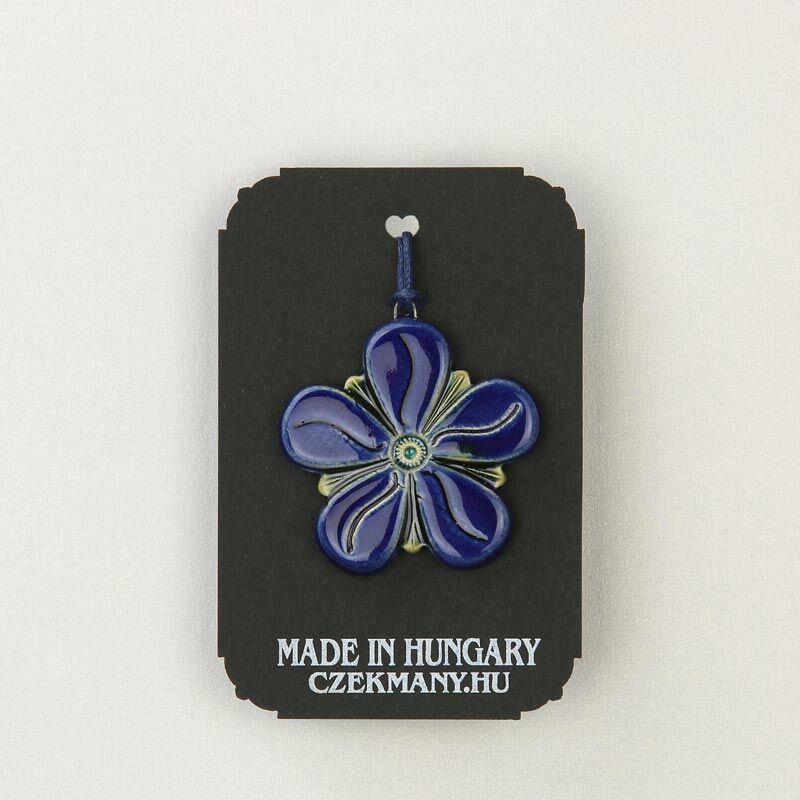 Virágos kerámia mandala medál 21
