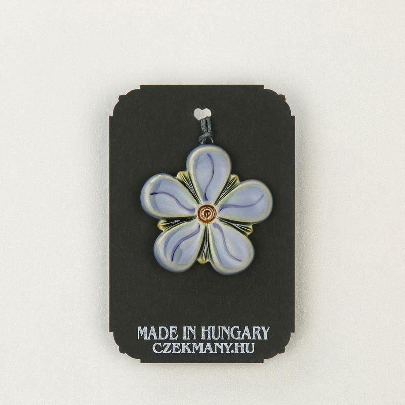 Virágos kerámia mandala medál 23