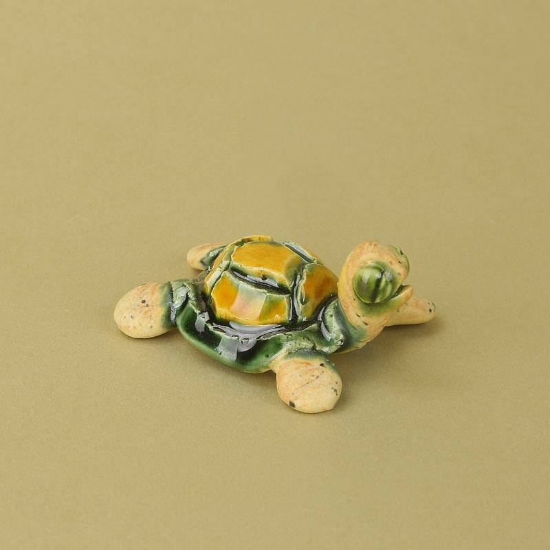 Pici kerámia teknős sárga