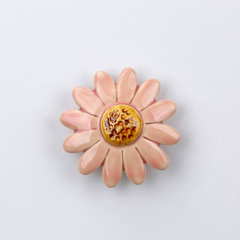 Kerámia margaréta - rózsaszín, közepes méretű