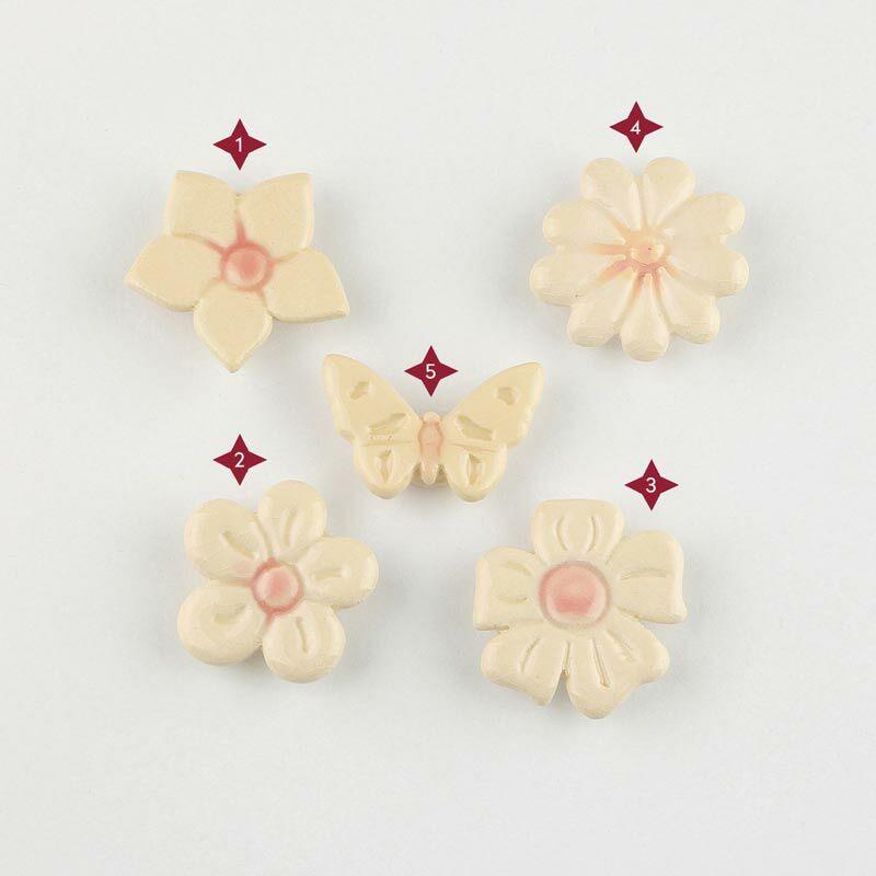 Fehér mini kerámia virág