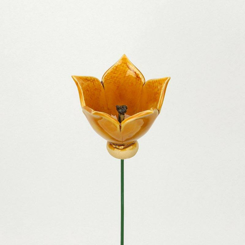 Sárga kerámia tulipán