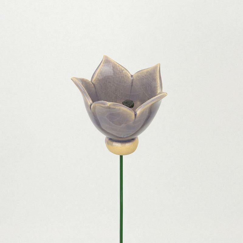 Világoslila kerámia tulipán