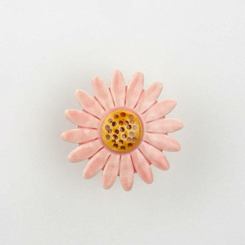 Nagy kerámia margaréta - rózsaszín