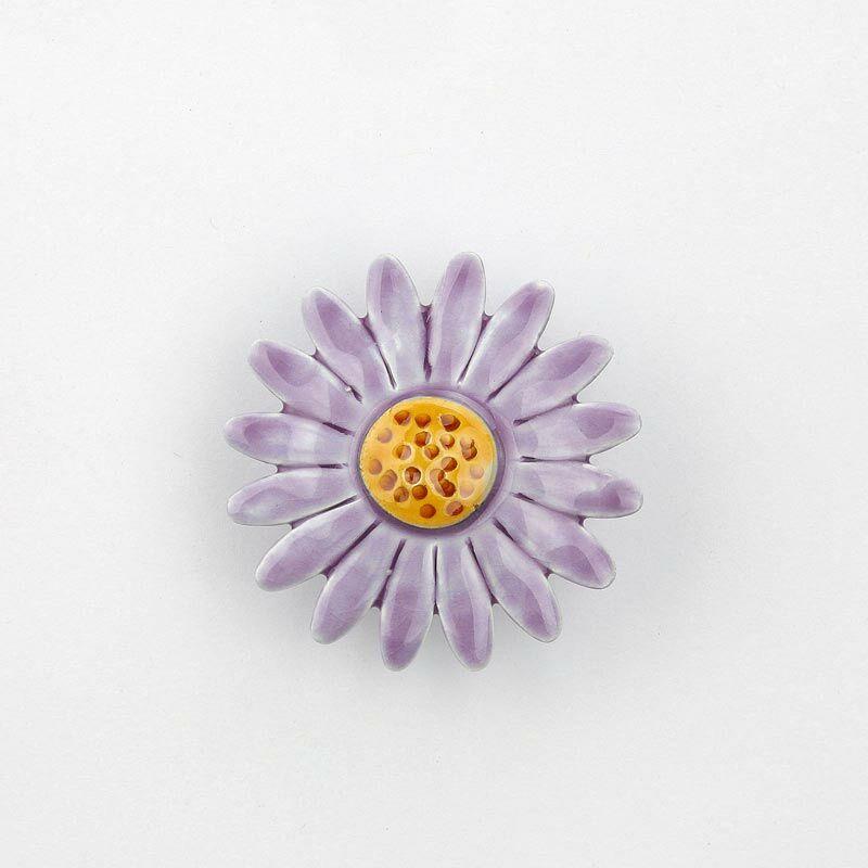 Nagy kerámia margaréta - világos lila