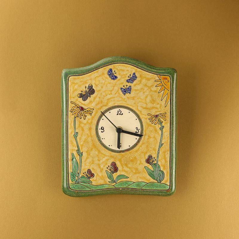 Pillangós nagy fali óra