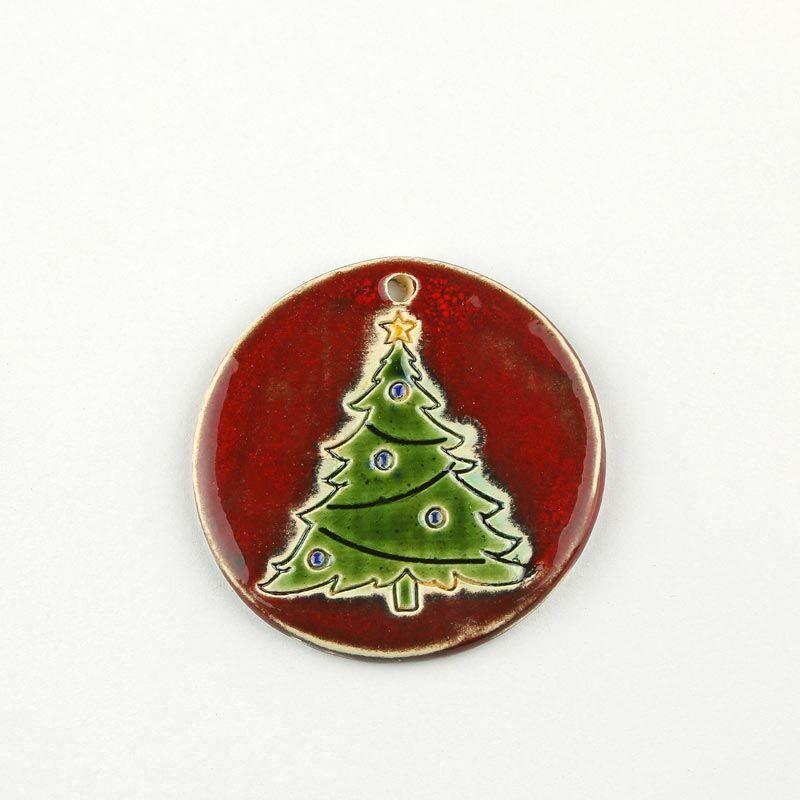 Karácsonyfadísz díszes fenyő bordó