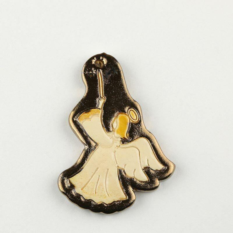 Karácsonyfadísz formázott angyal alakú, arany